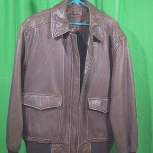 Roundtree & Yorke leather bomber jacket